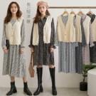 1020 超值組合!雪紡洋裝一年四季都可穿!針織背心另外搭也百搭喔。