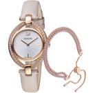 原廠公司貨 橢圓優雅流線設計 璀璨水晶鑲飾錶框 鍍玫瑰金色Subtle手鏈 料號:5414703
