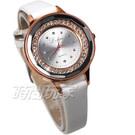 全新現貨  寶石切割鏡面 亮眼美鑽設計 皮革錶帶 日常防水 輕巧有型好戴 防水手錶 女錶