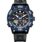 原廠公司貨 光動能環保充電 日期顯示、24小時制顯示 碼錶計時、30個城市時間 JR4065-09E
