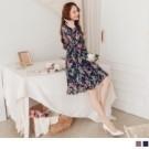 視覺柔和且協調的彩繪感印花,韓系浪漫風格穿搭 飄逸感魚尾裙襬,搭配縮腰鬆緊設計