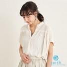 ■Natural Label■  質料柔軟的襯衫上衣 墜垂感營造出的褶皺 增添穿搭立體感