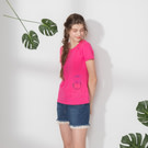 純棉布料加上西瓜口袋印花造型設計
