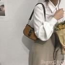 高級感洋氣包包女2021新款復古手提法棍包法國小眾質感側背腋下包