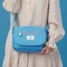 輕量防潑水尼龍面料 吸睛撞色設計 前袋磁扣好便利