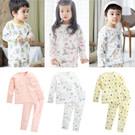 薄款長袖居家服超實穿 夏天在冷氣房也適用 滿版印花超可愛 多款花樣任選 一次買兩-三套替換穿吧!