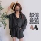 夏0728【18935】無身材限制的歐尼風套裝 幫你省去穿搭的煩惱 直接變歐逆!