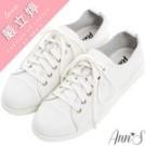 整雙鞋採用柔軟全真牛皮製作 綁帶蝴蝶結做為鞋面點綴 Line:@annsshop