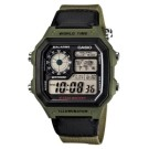 .鏡面材質:壓克力防刮玻璃 .錶殼材質:樹脂 .錶帶材質:帆布錶帶 .防水:100米