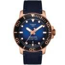 原廠公司貨.瑞士製 專業300米防水,陶瓷錶圈 動力儲存80小時,日期視窗 藍寶石水晶鏡面,帆布錶帶