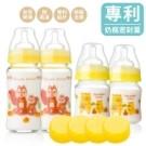 產後母乳儲存,寶寶奶瓶,副食品儲存三合一 可銜接avent及貝瑞克吸乳器 四支奶瓶+四個密封蓋