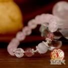 手鍊 桃花 粉晶 粉晶打造吸引愛情,果實造型促進姻緣開花結果,充滿愛戀,有助提升人氣,招來好桃花