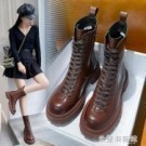 中筒馬丁靴女英倫風年新款秋冬潮ins顯腳小百搭瘦瘦短靴