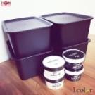 日本製 附蓋設計,可阻隔灰塵 可堆疊節省空間 適合各種物品收納 收納容量:4L