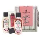 大馬士革玫瑰及珍貴魚子醬萃取  浪漫粉色禮盒設計 沐浴精/美體乳/護手霜 各50