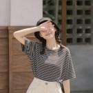 舒服好穿著的彈性棉質 多種顏色基本條紋款式好搭配 穿著牛仔褲短褲都ok 春天穿著日常休閒LOOK