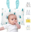 MuslinTree兒童蝴蝶枕頭新生兒機能型防扁頭定型枕