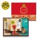 ◆內容物:厚燒條子肉乾(150g)+小包蜜汁炭烤肉乾(140g)+肉酥堅果海苔燒(60g)