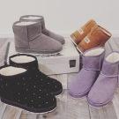 WB109805雪靴.水鑽靴子英倫時尚菱格雪靴黑色/灰色/紫色/棕色36-40