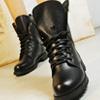 歐美時尚皮革拼接馬丁靴【XKA-828】(XW804)入秋最佳流行款