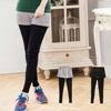 內搭褲肯定是必備首選!但還是這種假兩件造型最實用!以短裙+內搭褲的假兩件設計