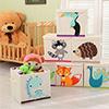 兒童玩具收納箱 有蓋折疊儲物箱 玩具雜物衣物收納箱