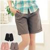 夏季必備休閒短褲褲管反折設計完美的修飾腿部線條 視覺上也拉長了腿的比例