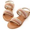 讓人第一眼就大呼好美的一款涼鞋精緻的亮片珠串鞋面吸睛度100%軟軟的空氣感乳膠鞋底穿起來超舒服