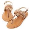 讓人第一眼就大呼好美的一款涼鞋精緻的亮片珠串鞋面吸睛度100%軟軟的乳膠鞋墊讓女孩穿一整天都舒適