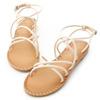 交錯的細帶設計巧妙修飾腳背線條獨特的線條變化豐富了視覺架構軟軟的空氣感鞋底穿起來Q彈好舒服