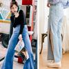 超歐美系列單寧寬褲重點是開岔超好看的!整個延伸了腿的比例