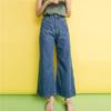 兩側雙口袋超可愛超長單寧寬褲穿起來超顯比例,一定要入手