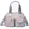 輕量防潑水尼龍材質 專屬LOGO星型五金多個功能性拉鍊口袋柔軟休閒包型 / 悠遊城市酷玩風格!