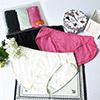 柔軟手感簡約褲型,如女孩細膩溫柔棉材質搭配莫代爾,吸濕快乾又透氣包裝採夾鏈袋萬用包,可重複使用