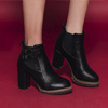 秋 0921【13443】釦環造型側邊鬆緊帶修飾身型 高跟裸靴