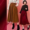 燈芯絨材質長裙超特別腰鬆緊設計超貼心隨性搭配襯衫穿搭超有秋冬感