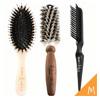 商品包含◆櫸木豬鬃梳◆大師爆炸毛圓梳 M 1隻◆髮梳專用清潔刷 1隻