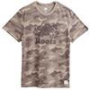 100%棉棉質短袖T恤搭配迷彩元素展現活力精神