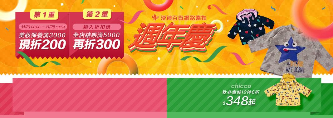 漢神百貨週年慶