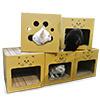 表層選用優質波浪瓦楞紙,產品牢固,材質環保,可當睡窩使用;滿足貓主子愛抓抓的天性