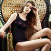 ◆肩帶蕾絲,外露性感浪漫。◆U領款式,好搭配穿著。◆莫代爾材質,細緻柔軟。