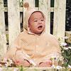 空氣棉面料,採用三層有機棉紗製作布料,給寶寶最溫暖的呵護◎適合 四季 穿著◎此款式請勿烘乾