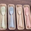 四色可選,小麥環保餐具組,要吃得健康