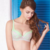 ◆中脅邊+絲棉剪接罩杯,舒適包覆。◆U型美背,增加穿著穩定性。