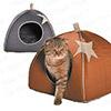 ● 法國原裝進口● 屋型設計屋頂可拆● 軟墊絨毛/布面兩用● 貓咪最愛隱蔽性