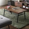日式工業風格系列,讓居家的風格更加獨特,大茶几下方具收納空間更讓使用上更加便利。厚實的木紋面板加上金