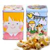 ●方罐存錢筒爆米花●日本天然海藻糖製作●法國非基改玉米粒不吸油●每面圖案不同,四面排列可愛圗