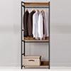 極簡工業風開放式收納衣櫃,多款樣式可自主搭配