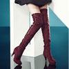 過膝靴修飾雙腿前衛鑲珠使整體感加分489713157