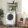 ★有效利用洗衣機上方空間收納★寬度65-90cm延伸設計  ★可動式層板 高度自由調整